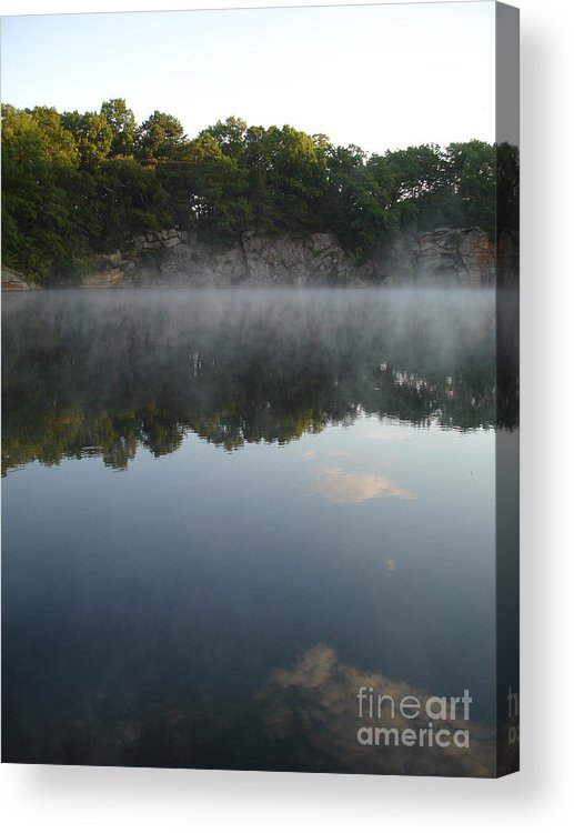 Landscape Acrylic Print featuring the photograph Quarry Reflections by Chad Natti