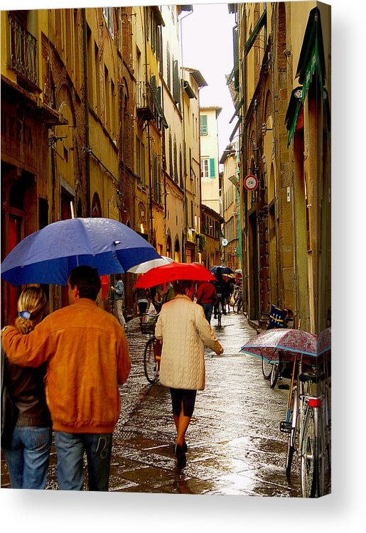 Italy Acrylic Print featuring the photograph Rainy Day Shopping In Italy by Nancy Bradley