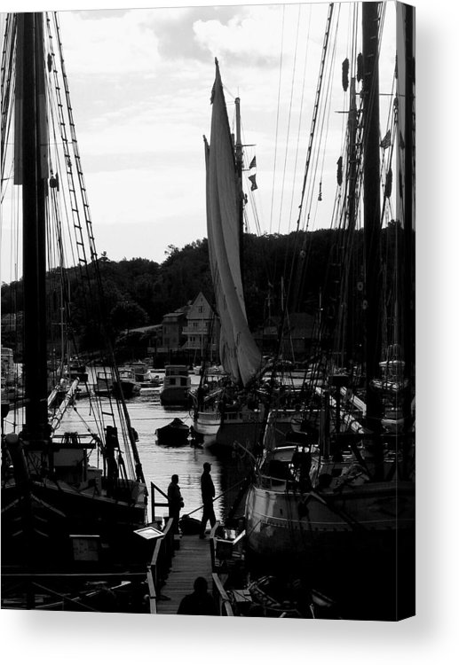 Boats Acrylic Print featuring the digital art Readying To Board by Donna Thomas