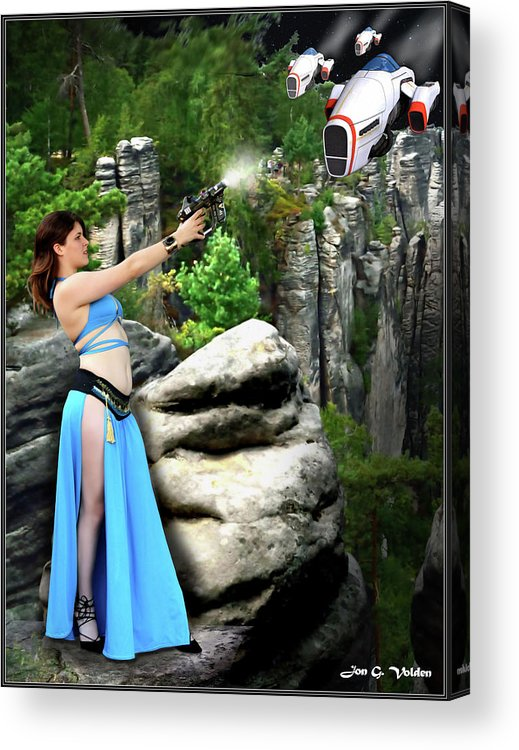 Vixen Acrylic Print featuring the photograph Rebel Stand by Jon Volden