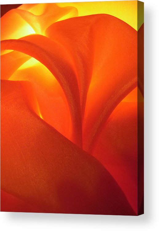 Abstract Acrylic Print featuring the photograph Red 69 by Stephanie Moore