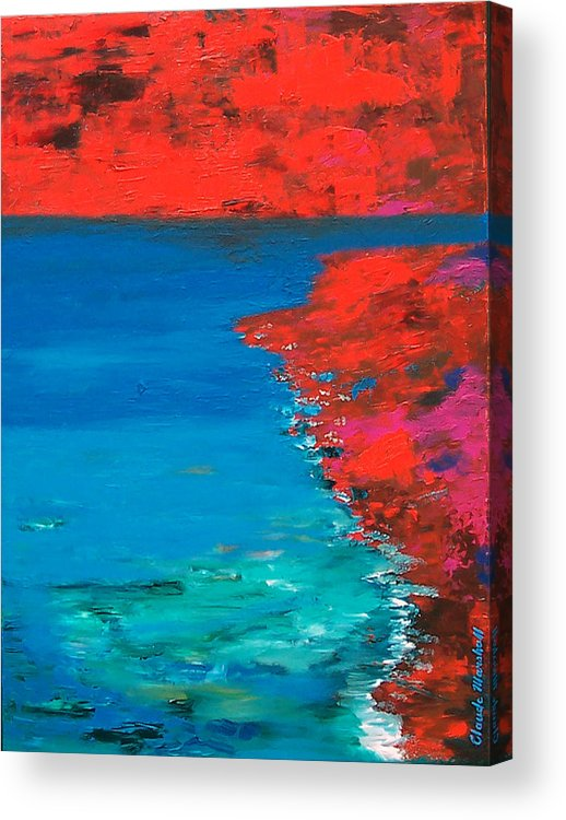 Art Acrylic Print featuring the painting Red Island by Claude Marshall