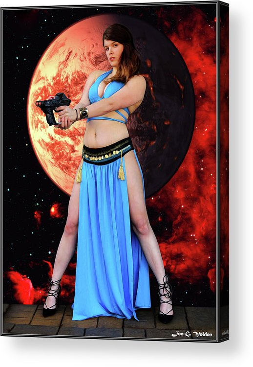 Vixen Acrylic Print featuring the photograph Revenge Of The Space Princess by Jon Volden