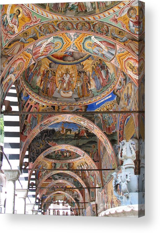 Icon Acrylic Print featuring the photograph Rila Monastery In Bulgaria by Iglika Milcheva-Godfrey