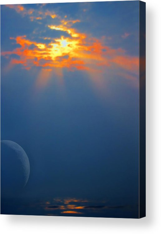 Moon Acrylic Print featuring the photograph Rising Moon by Daamonturne