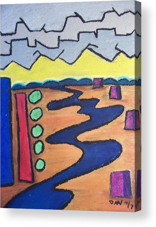 River Acrylic Print featuring the painting River by Daav Corbet