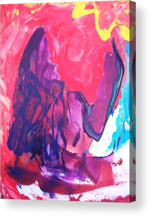 Abstract Acrylic Print featuring the painting Robot With Attitude by Bruce Combs - REACH BEYOND