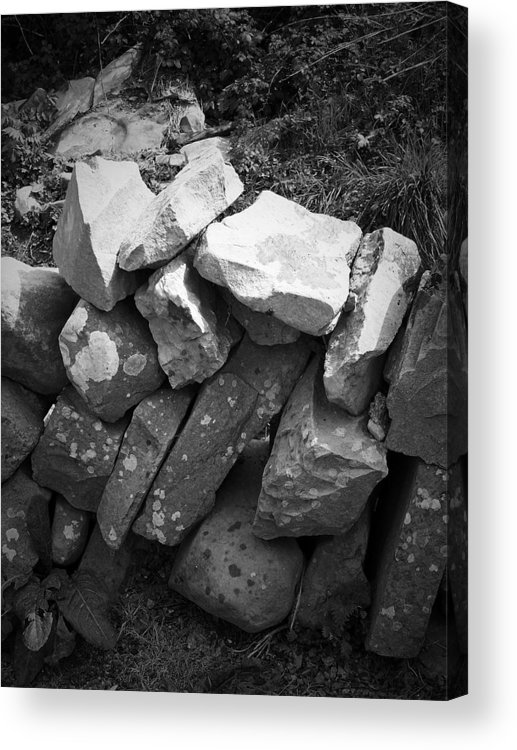 Irish Acrylic Print featuring the photograph Rock Wall Doolin Ireland by Teresa Mucha
