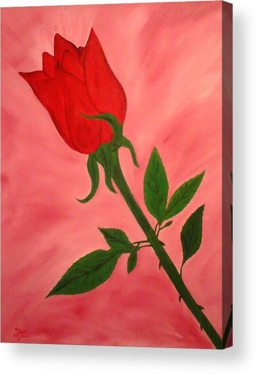 Landscape Acrylic Print featuring the painting Rose by Guillermo Mason