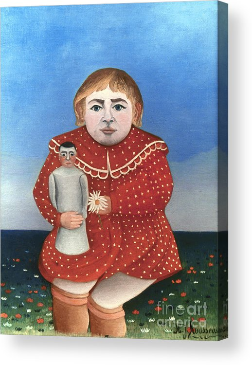 1906 Acrylic Print featuring the photograph Rousseau: Child/doll, C1906 by Granger