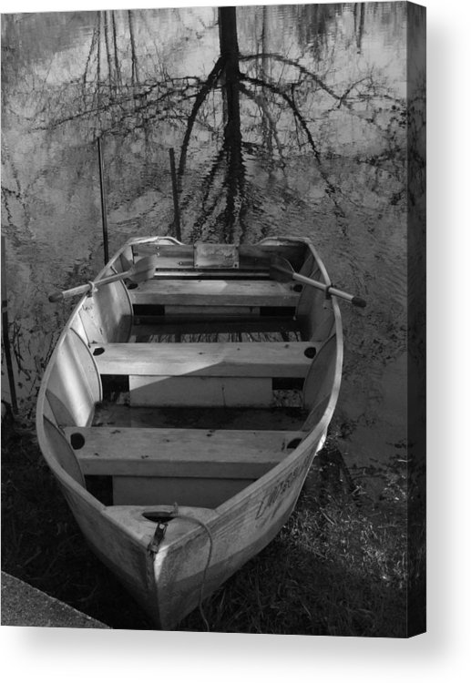 Boat Acrylic Print featuring the photograph Rowboat And Tree by Michael L Kimble