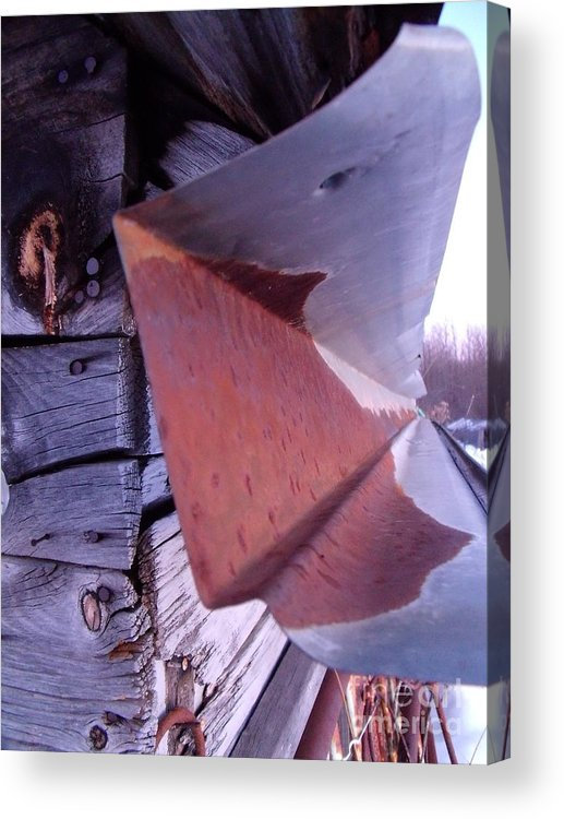 Acrylic Print featuring the photograph Rusted Eves by The Stone Age