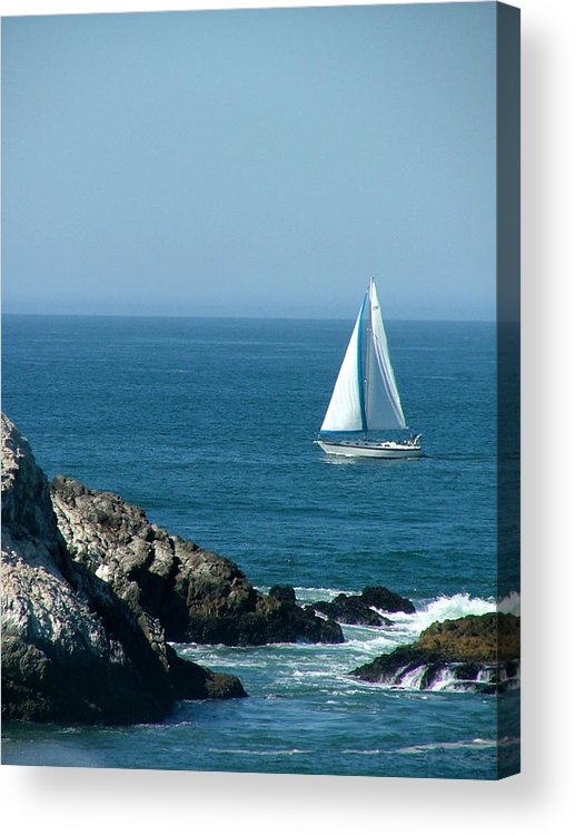 Boats Acrylic Print featuring the photograph Sail Away by Donna Thomas