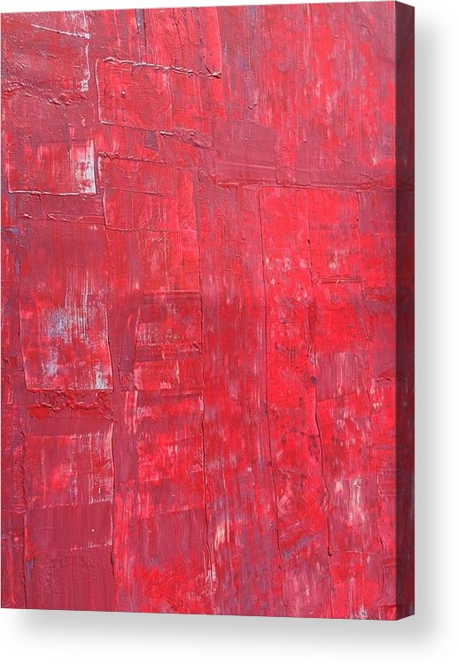 Red Acrylic Print featuring the painting Scarlett Symphony by Amber Lee