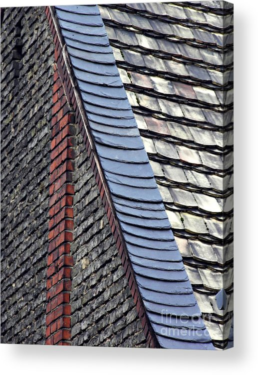 Building Acrylic Print featuring the photograph Schierstein Geometrics 14 by Sarah Loft