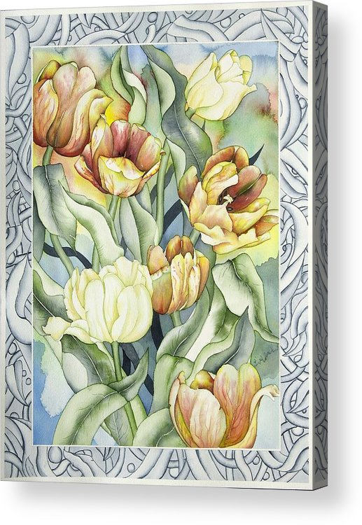 Flowers Acrylic Print featuring the painting Secret World I by Liduine Bekman