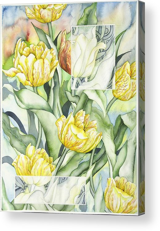 Flowers Acrylic Print featuring the painting Secret World II by Liduine Bekman