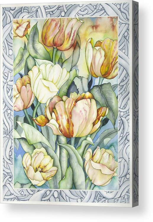 Flowers Acrylic Print featuring the painting Secret World IIi by Liduine Bekman