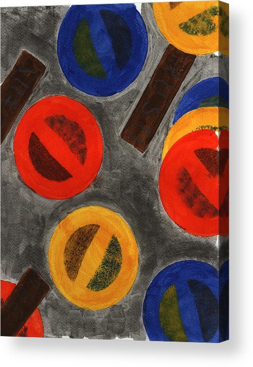Abstract Painting Acrylic Print featuring the painting Segments 4 by David Townsend