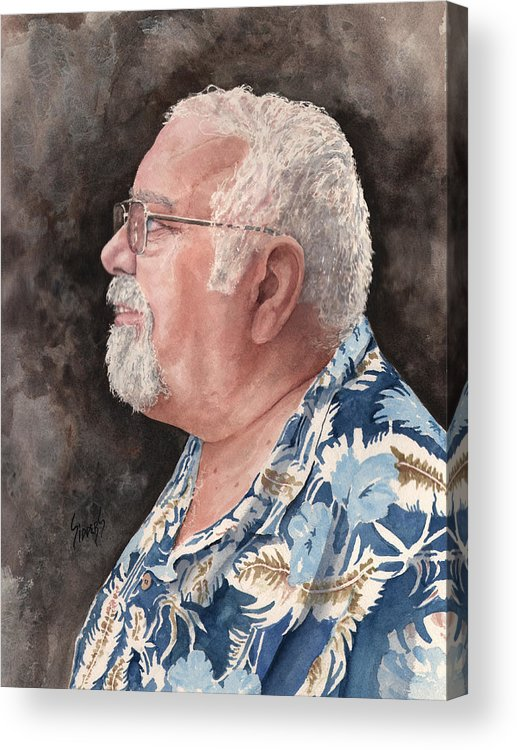 Acrylic Print featuring the painting Self Portrait by Sam Sidders