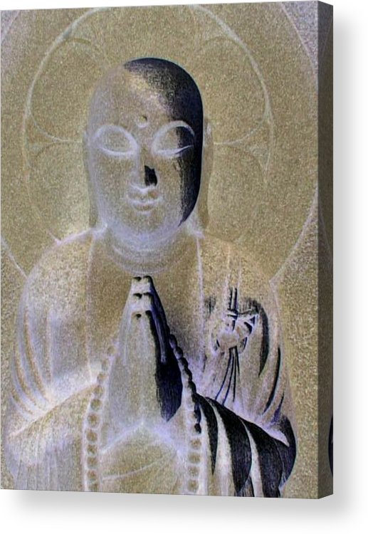 Buddha Acrylic Print featuring the photograph Serenity by Curtis Schauer