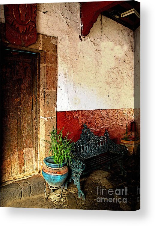 Patzcuaro Acrylic Print featuring the photograph Shaded Entrance by Mexicolors Art Photography