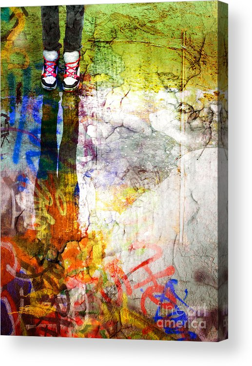 Shoes Acrylic Print featuring the photograph She Lives In A Box Of Paint by Tara Turner