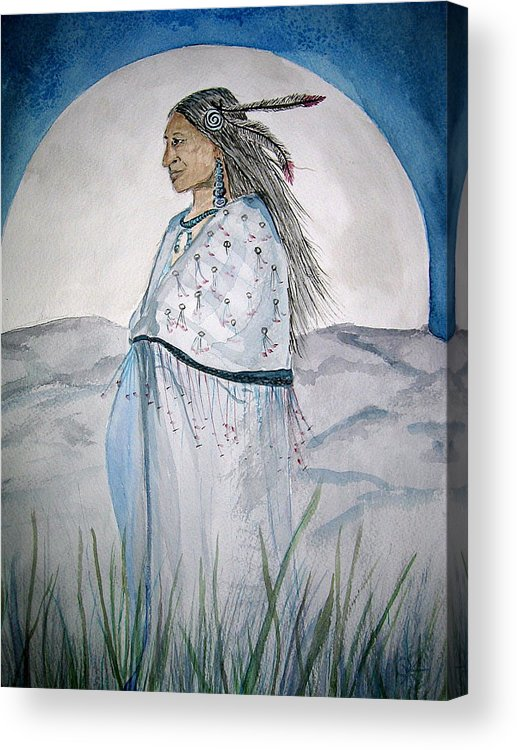 Original Art Acrylic Print featuring the painting She Walks At Night by K Hoover