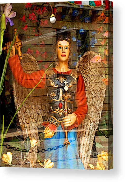 Darian Day Acrylic Print featuring the photograph Shop's Angel by Mexicolors Art Photography