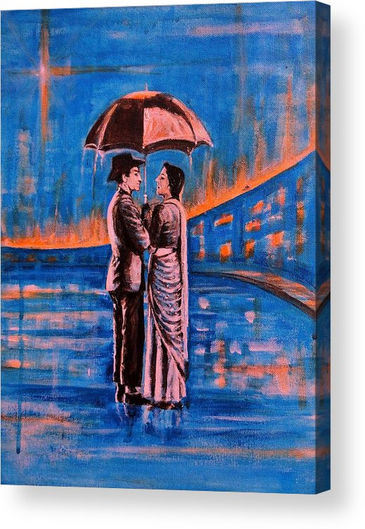 Shree Acrylic Print featuring the painting Shree 420 by Usha Shantharam