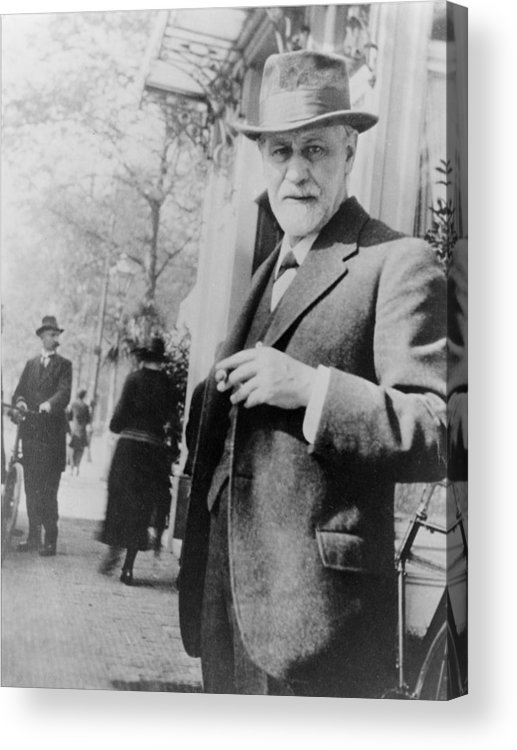 History Acrylic Print featuring the photograph Sigmund Freud 1856-1939, Standing by Everett