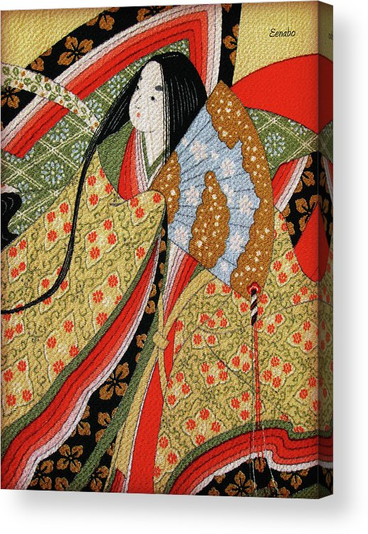 Japanese Art Acrylic Print featuring the photograph Silk Painting by Eena Bo