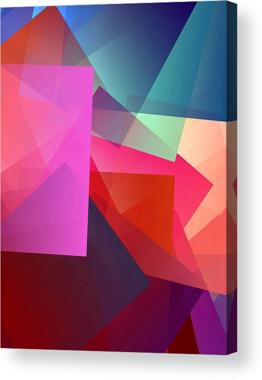 Simple Cubism Abstract 127 Acrylic Print