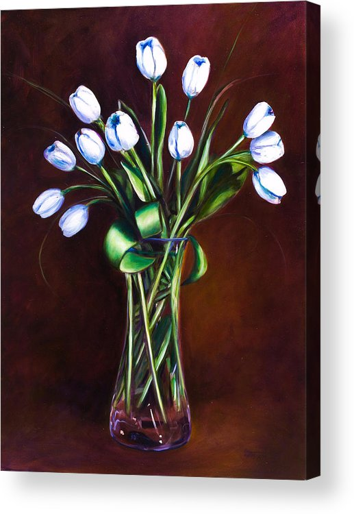 Shannon Grissom Acrylic Print featuring the painting Simply Tulips by Shannon Grissom