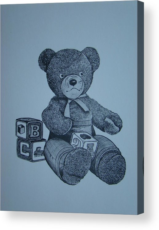 Bear Acrylic Print featuring the painting Smokey Bear by Charles Roy Smith