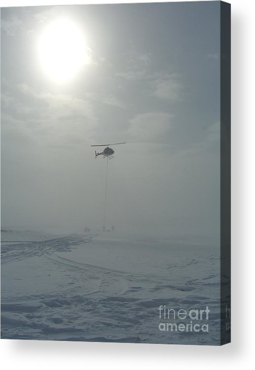 Helicopter Acrylic Print featuring the photograph Snow Heli -25deg by Jim Thomson