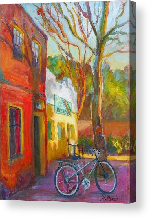 Eugene Acrylic Print featuring the painting So Eugene by Margaret Plumb
