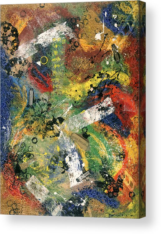 Abstract Acrylic Print featuring the painting Societe Amicale by Dominique Boutaud