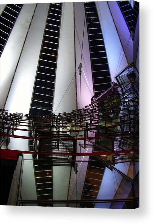 Sony Center Acrylic Print featuring the photograph Sony Center II by Flavia Westerwelle