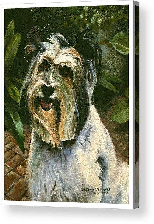 Portrait Acrylic Print featuring the painting Sophie by Eileen Hale
