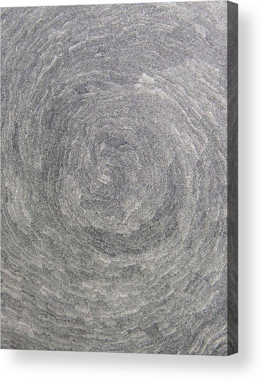 Drawing Acrylic Print featuring the drawing Source Of Time by Uwe Schein