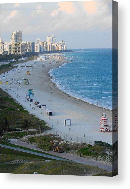 Miami Acrylic Print featuring the photograph South Beach At Its Best by Margaret Bobb