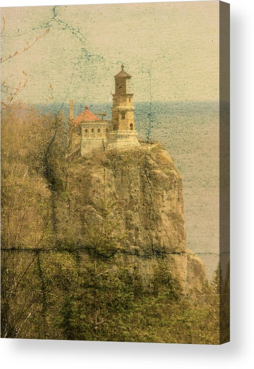 Tingy Acrylic Print featuring the photograph Split Rock by Tingy Wende
