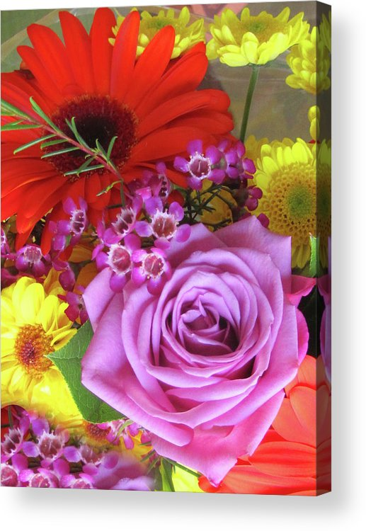 Flowers Acrylic Print featuring the photograph Spring Bouquet by Vijay Sharon Govender