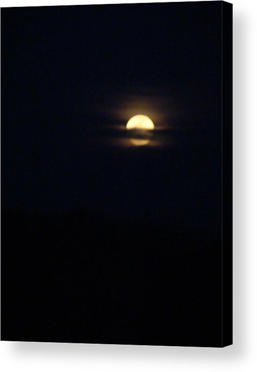 Full Moon Acrylic Print featuring the photograph Spring Moon One by Ana Villaronga