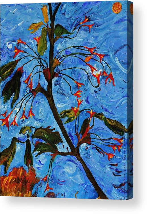 Flowers Acrylic Print featuring the painting Spring Tree by Gregory Allen Page