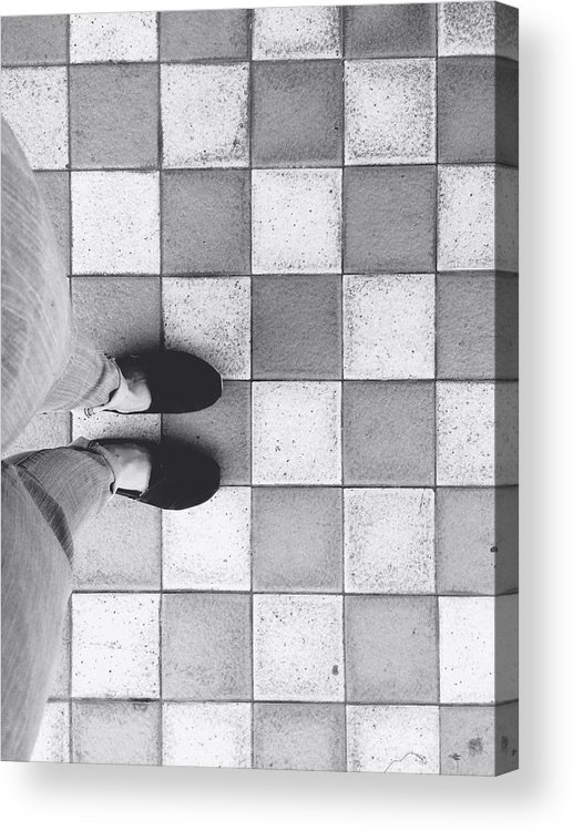 Feet Acrylic Print featuring the photograph Squares And Feet by Melvi Morfe