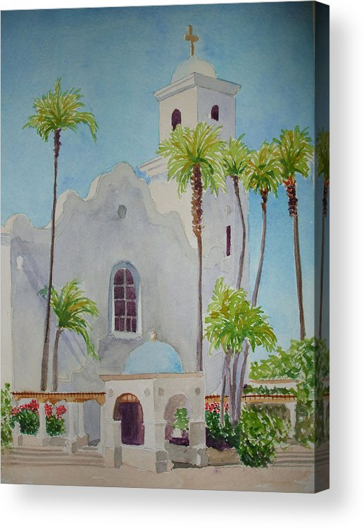 Church Acrylic Print featuring the painting St John Of The Cross by Ally Benbrook