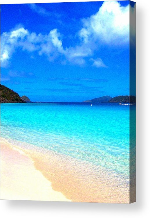 Ocean Acrylic Print featuring the photograph St. Thomas Heaven by Caroline Urbania Naeem