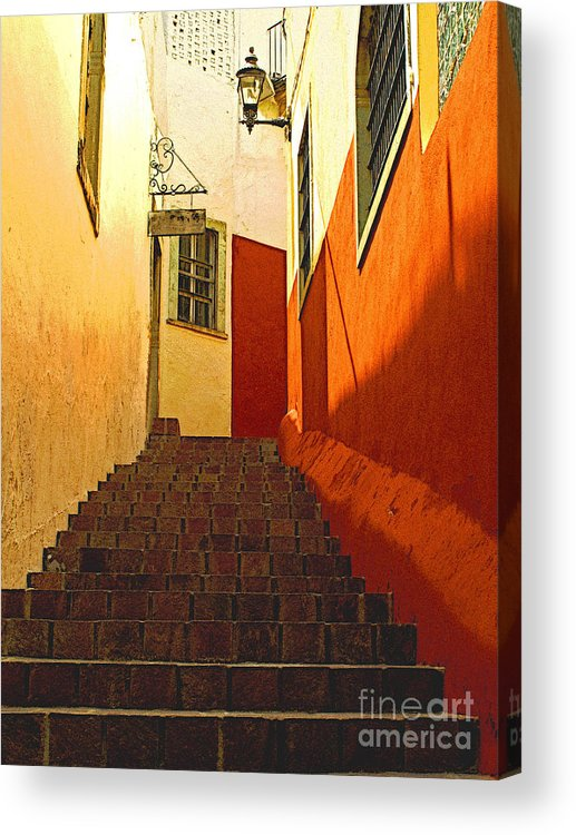 Darian Day Acrylic Print featuring the photograph Stairway Guanajuato by Mexicolors Art Photography